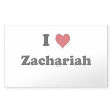 I love Zachariah Rectangle Sticker 10 pk)