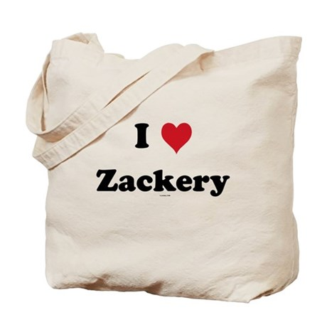 I love Zackery Tote Bag