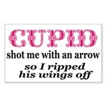 Cupid-Wings Rectangle Sticker 10 pk)