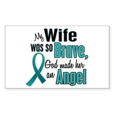 Angel 1 TEAL (Wife) Rectangle Decal