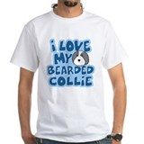 I Love my Bearded Collie TShirt (Cartoon)