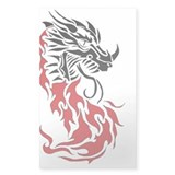 Dragonfire II Rectangle Decal
