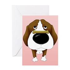Beagle Valentine's Day Greeting Card