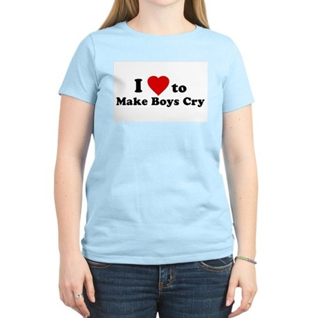 I Love [Heart] to Make Boys C Womens Pink T-Shirt