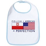 Polish American flags Bib