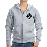 Q of Spades Zip Hoody