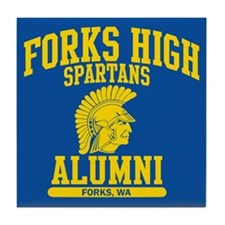 Funny Forks high school Tile Coaster