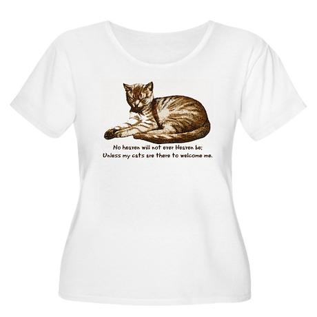 No Heaven Without Cats Women's Plus Size Scoop Nec