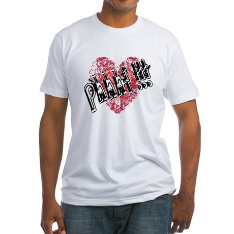 'Valentines Love - Phhht !!! Fitted T-Shirt