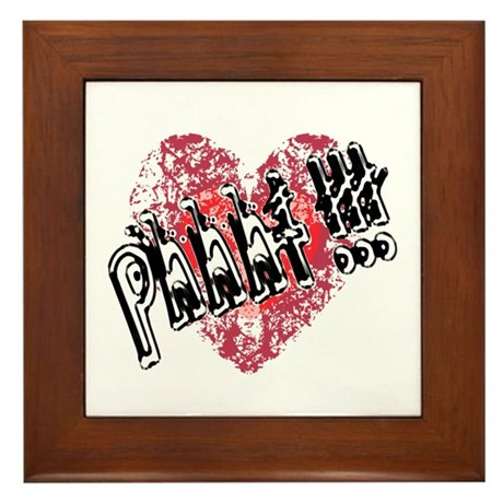 'Valentines Love - Phhht !!! Framed Tile