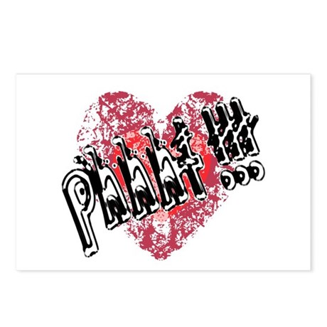'Valentines Love - Phhht !!! Postcards (Package of