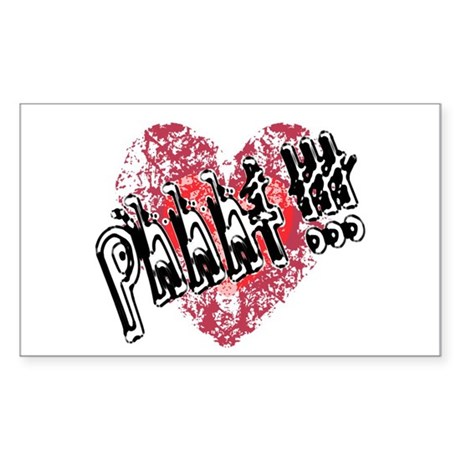 'Valentines Love - Phhht !!! Rectangle Sticker