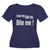 LOVE ME, HATE ME, BITE ME, Women's Plus Size Scoop