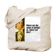 "Keats ""Songs of Spring"" Tote Bag"