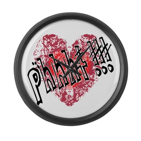 'Valentines Love - Phhht !!! Large Wall Clock