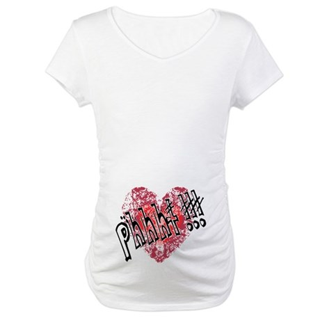 'Valentines Love - Phhht !!! Maternity T-Shirt