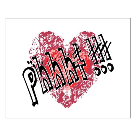 'Valentines Love - Phhht !!! Small Poster