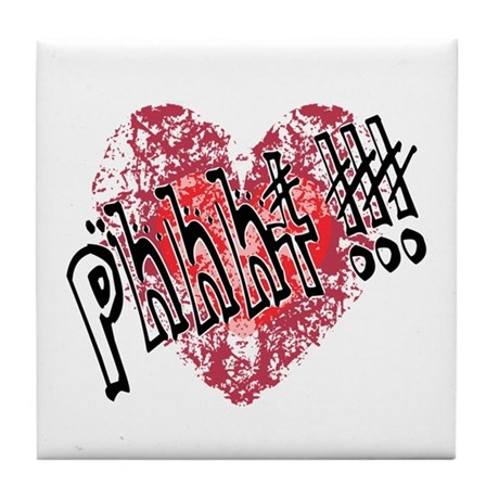 'Valentines Love - Phhht !!! Tile Coaster