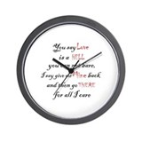 Sleep To Dream Wall Clock