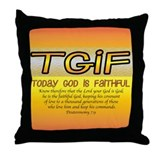 TGIF Throw Pillow
