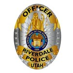 Riverdale Police Oval Ornament