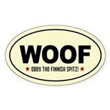 WOOF Obey the FINNISH SPITZ! Decal