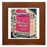 """The Jolson Story"" Framed Tile"
