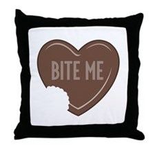 """Bite Me"" Throw Pillow"