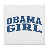 Obama Girl Nickname Collegiate Style Tile Coaster