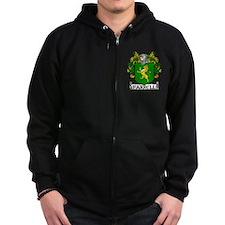 Farrell Coat of Arms Zip Hoodie