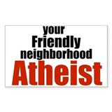 Friendly neighborhood atheist Rectangle Decal