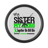 Lymphoma Hero Sister Large Wall Clock