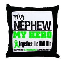 Lymphoma Hero Nephew Throw Pillow
