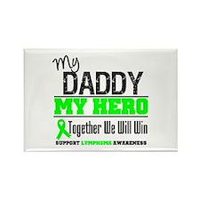 Lymphoma Hero Daddy Rectangle Magnet