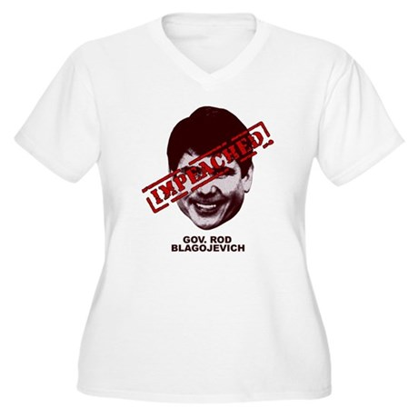 Blagojevich Impeached Women's Plus Size V-Neck T-S