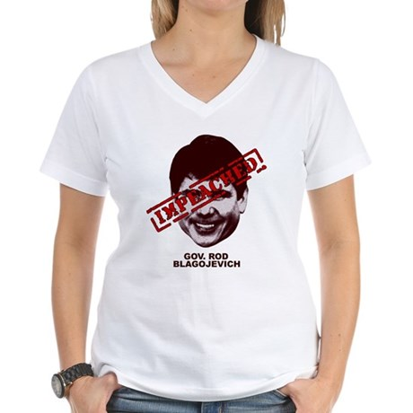 Blagojevich Impeached Women's V-Neck T-Shirt