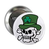 "Skull Leprechaun 2.25"" Button (100 pack)"