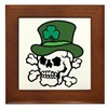 Skull Leprechaun Framed Tile