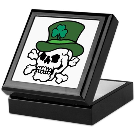 Skull Leprechaun Keepsake Box