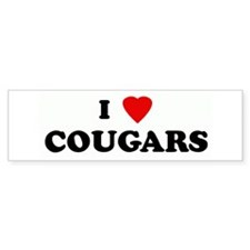 I Love COUGARS Bumper Bumper Sticker