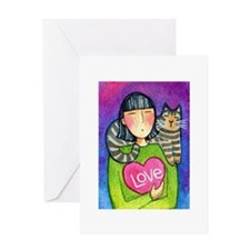 CUPID KITTY...Purr-fect Day Greeting Card