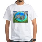 Guineas On Opal White T-Shirt