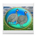 Guineas On Opal Tile Coaster