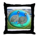 Guineas On Opal Throw Pillow