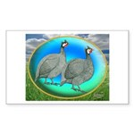 Guineas On Opal Rectangle Sticker