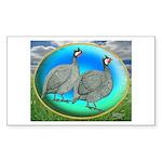 Guineas On Opal Rectangle Sticker 10 pk)