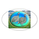 Guineas On Opal Oval Sticker (50 pk)
