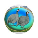 Guineas On Opal Ornament (Round)