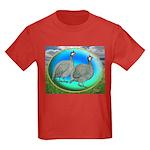 Guineas On Opal Kids Dark T-Shirt