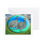 Guineas On Opal Greeting Cards (Pk of 20)